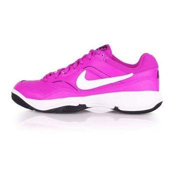 【NIKE】WMNS COURT LITE 女網球鞋 紫白