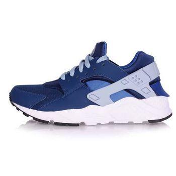 【NIKE】HUARACHE RUN -GS 女運動休閒鞋- 慢跑 路跑 寶藍白