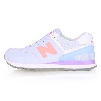 【NEWBALANCE】574系列 女復古休閒鞋-B- NB N字鞋 粉紫橘