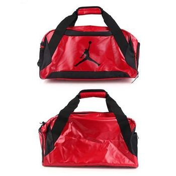 【NIKE】JORDAN TRAINING DAY側背包- 手提包 旅行袋 紅黑