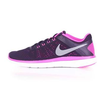 【NIKE】WMNS FLEX 2016 RN 女慢跑鞋- 路跑 健身 黑紫