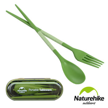 Naturehike 輕巧迷你折疊餐具組(綠色)