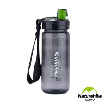 Naturehike 輕量易開式A060運動水壺 水瓶500ml 深灰