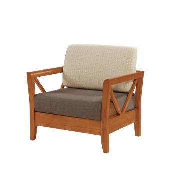 Bernice-奇爾實木沙發單人椅