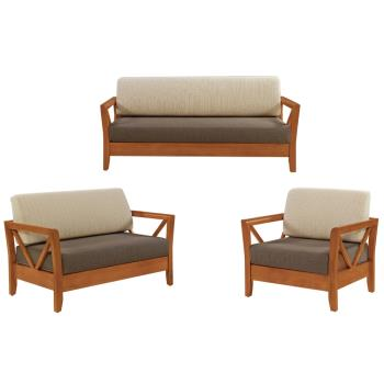 Bernice-奇爾實木沙發椅組(1+2+3人座)