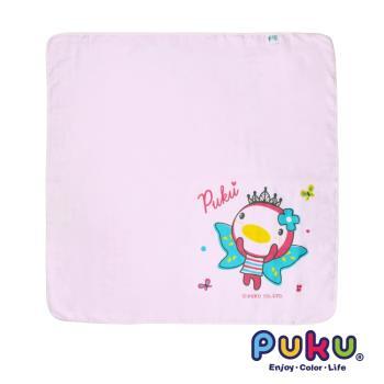 PUKU藍色企鵝 - 紗布大浴巾90*90cm(粉色)