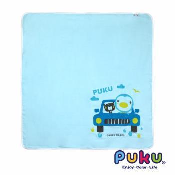 PUKU藍色企鵝 - 紗布大浴巾90*90cm(水色)