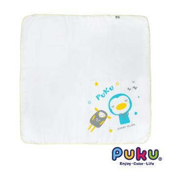 PUKU藍色企鵝 - 紗布大浴巾90*90cm(白色)