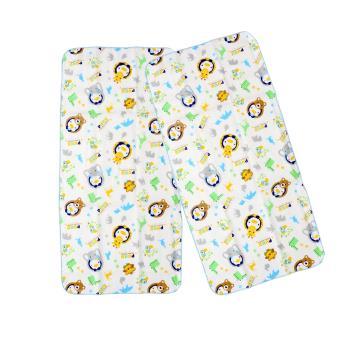 PUKU藍色企鵝 -  印花紗布澡巾2入30*60cm(水色)