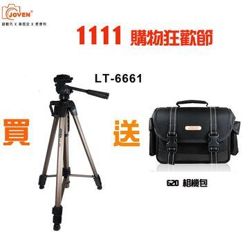 {1111購物狂歡節} JOVEN LT6661三向式雲臺 單眼專用型腳架+JOVEN 620 單眼相機包