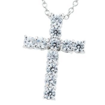Dolly 耀眼十字架美鑽墜 - 時尚白K金