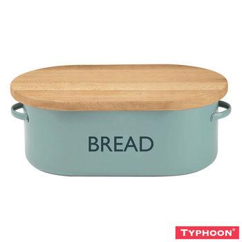 【TYPHOON】Summer House麵包盒附切麵包砧板(淺藍)