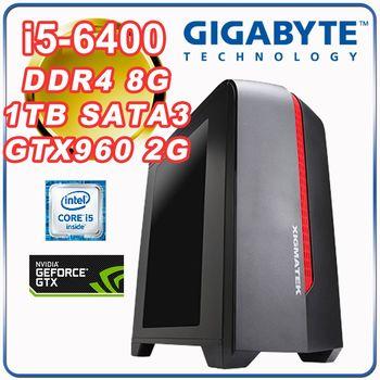 |技嘉H110平台|電競入門 Intel i5-6400四核 8G記憶體 1TB大容量 技嘉 GTX960-2G 電競玩家型電腦