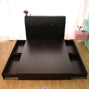 【HB】日系收納百變抽屜床座(四大空格)-雙人5尺
