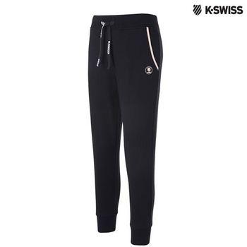 K-Swiss HEATHER Sweatpant棉質休閒長褲-女-黑