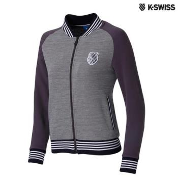 K-Swiss Jacquard Jacket休閒外套-女-灰