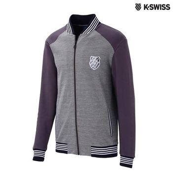 K-Swiss Jacquard Jacket休閒外套-男-灰