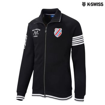 K-Swiss Interlock FZ Jacket運動外套-男-黑