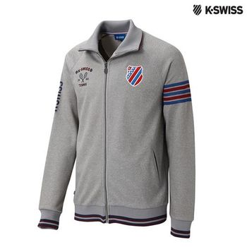 K-Swiss Interlock FZ Jacket運動外套-男-炭灰