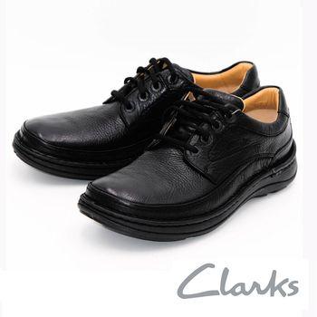 Clarks Uncorner Plain英倫防水厚底氣休閒男鞋-黑