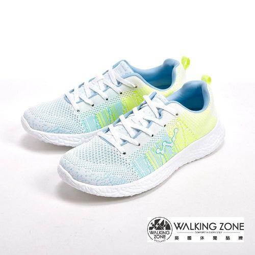 WALKING ZONE 天痕戶外瑜珈鞋系列 綁帶運動鞋女鞋-白(另有藍、粉)