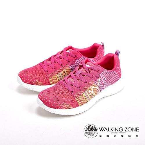 WALKING ZONE 天痕戶外瑜珈鞋系列 綁帶運動鞋女鞋-粉(另有藍、白)