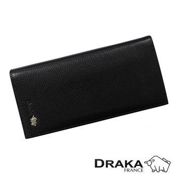 DRAKA達卡 - 皮夾/長夾/男用皮夾 真皮荔紋烙印系列-44DK3169
