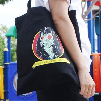 【SEIO】帆布包 環保包 經典歐美 SEIO 自定款設計環保帆布包 野蠻 殭屍 手拿肩背包