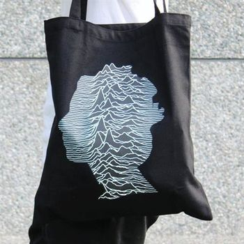 【SEIO】帆布包 環保包 經典歐美 SEIO 自定款設計環保帆布包 樂團側臉波浪 手拿肩背包