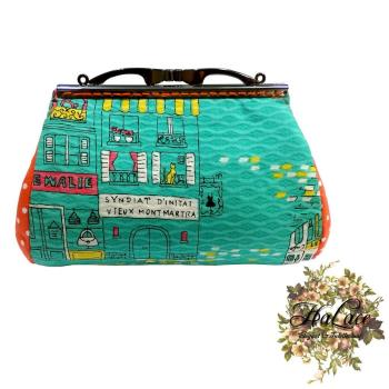 【HaLace創意手工拼布包】紐約零錢包