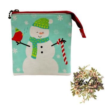 【HaLace創意手工拼布包】雪人零錢包