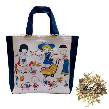 【HaLace創意手工拼布包】美國女孩手提包