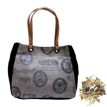 【HaLace創意手工拼布包】文藝復興三層手提包