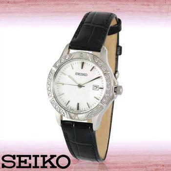 【SEIKO 精工】施華洛世奇水晶-甜美氣質淑女腕錶(SUR873P1)