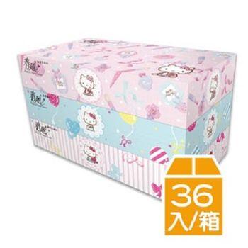 春風 盒裝面紙(100抽x36盒)Kitty蝴蝶結