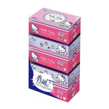 春風 盒裝面紙-Hello Kitty(150抽*5盒10串/箱)