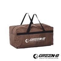 GREEN ^#45 B 100L大容量戶外露營裝備收納包 旅行袋 咖啡色