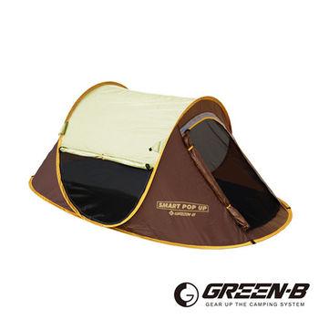 GREEN-B 一秒速開透氣紗窗雙人沙灘帳 速開帳 拋帳