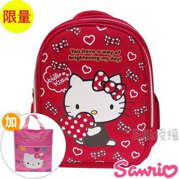 【Hello Kitty凱蒂貓】書包+提袋/補習袋系列組合