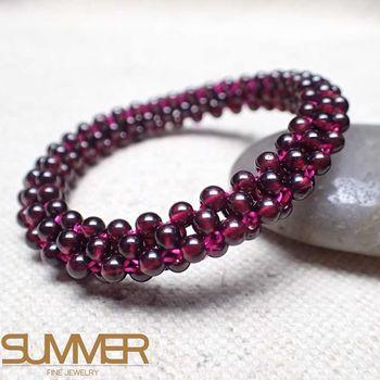 【SUMMER 寶石】天然紅石榴手環(BN-05)
