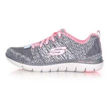 【SKECHERS】FLEX APPEAL 2.0-HIGH ENERGY女休閒鞋 灰粉