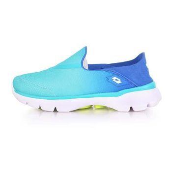 【LOTTO】女健體步行鞋-健走 走路鞋 粉綠藍