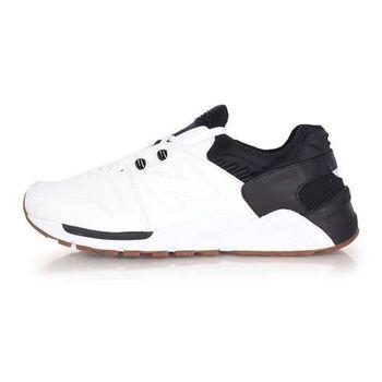 【NEWBALANCE】009系列 男復古休閒鞋- NB N字鞋 白黑