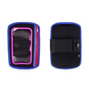 【MIZUNO】手臂包-慢跑 路跑 手機包 5.5吋螢幕適用 黑藍粉