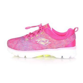 【LOTTO】女健體步行跑鞋 -慢跑 健身 桃紅