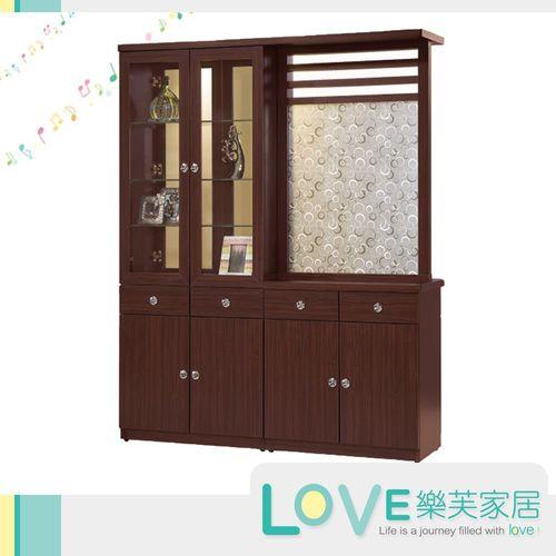 【LOVE樂芙】芭瑪胡桃色5.3尺雙面屏風鞋櫃