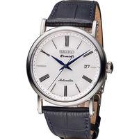 SEIKO 精工 Premier 超薄系列機械腕錶 4R35~01C0P 黑皮 SRPA1