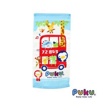 PUKU藍色企鵝 -  PUKU BUS純棉毛巾45*30cm