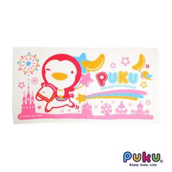 PUKU藍色企鵝 - PUKU長方浴巾60*114cm(粉色)