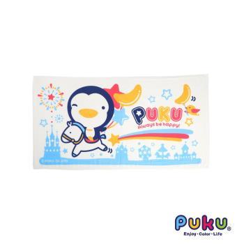 PUKU藍色企鵝 - PUKU長方浴巾60*114cm(水色)